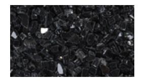 Superior CRSHGL-RBLK 5 Pound Bag Crushed Glass - Reflective Black