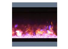 "Amantii SYM-74-SURR-GREY Dark Grey Surround For 74"" Symmetry & Symmetry-B Electric Fireplaces"