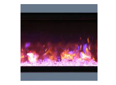 "Amantii SYM-88-SURR-GREY Dark Grey Surround For 88"" Symmetry & Symmetry-B Electric Fireplaces"