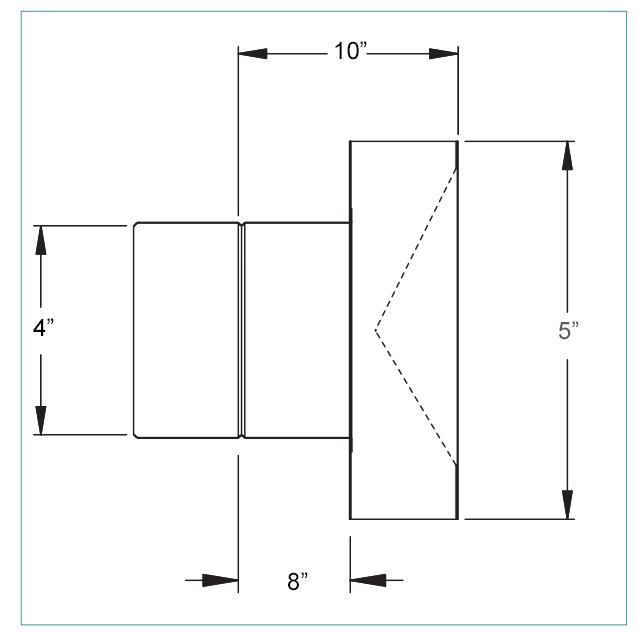 4 inch horizontal termination box