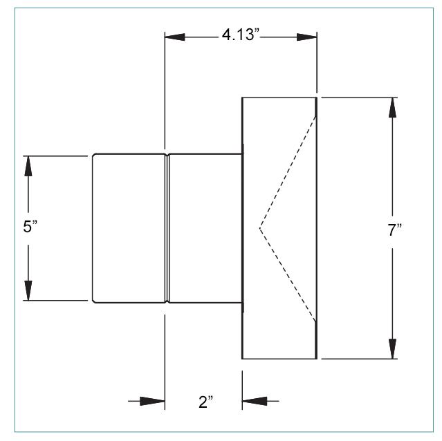 5 inch horizontal termination box