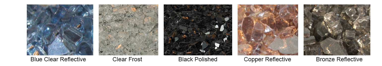 Available Crushed Glass Color Options