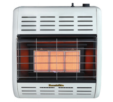 Natural Gas Wall Heater Vent Free 30000 BTU Infrared Thermostatic Surface Mount
