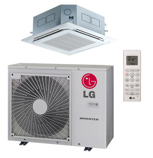 LG LC188HV4 18000 BTU 4-Way Ceiling Cassette with Grille, Single Zone  System with Heat Pump, 230 Volt - Energy Star