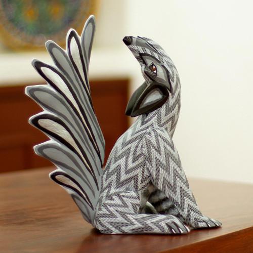 Handcrafted Coyote Alebrije Sculpture 'Midnight Coyote'