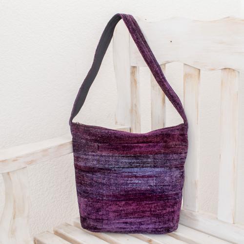 Guatemala Handwoven Shoulder Bag  'Purple Magic'