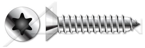 M5.5 X 13mm ISO 14586, Metric, Self-Tapping Sheet Metal Screws, Flat Head 6Lobe Torx(r) Drive, A2 Stainless Steel