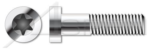 M2.5-0.45 X 16mm ISO 14580, Metric, Low Head 6Lobe Torx(r) Socket Cap Screws, A2 Stainless Steel