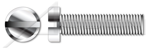 M3-0.5 X 5mm DIN 920, Metric, Machine Screws, Small Pan Head, Slotted Drive, Full Thread, A2 Stainless Steel