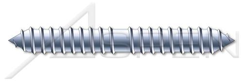 "#8 X 1"" Dowel Screws, Steel, Zinc Plated"