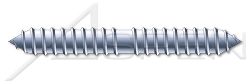 "#8 X 1-1/4"" Dowel Screws, Steel, Zinc Plated"
