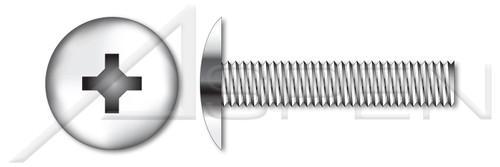 "#0-80 X 1/8"" Machine Screws, Truss Phillips Drive, Full Thread, AISI 316 Stainless Steel"
