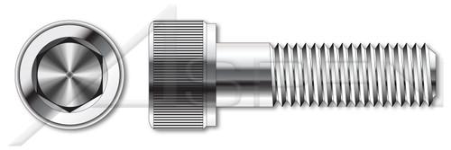 M10-1.5 X 20mm DIN 912 / ISO 4762, Metric, Hex Socket Head Cap Screws, A4 Stainless Steel