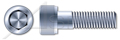 M10-1.5 X 20mm DIN 912 / ISO 4762, Metric, Hex Socket Head Cap Screws, Class 8.8 Steel, Zinc Plated