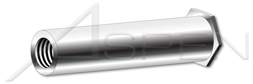 """#4-40 X 1/2"""", OD=0.160"""" Self-Clinching Standoffs, Full Thread, AISI 303 Stainless Steel (18-8)"""