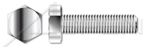 M8-1.25 X 20mm DIN 933 / ISO 4017, Metric, Hex Head Cap Screws Bolts, Full Thread, A4 Stainless Steel