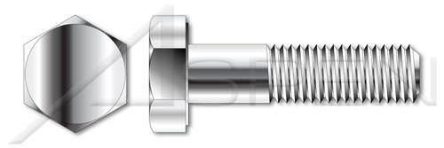 """1/4""""-20 X 1-1/4"""" Hex Head Cap Screws Bolts, Monel Nickel Copper Alloy 400, ASTM F468 and MILS1222H, DFARS"""