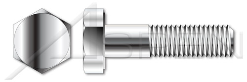 """5/16""""-18 X 3/4"""" Hex Head Cap Screws Bolts, Monel Nickel Copper Alloy 400, ASTM F468 and MILS1222H, DFARS"""