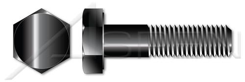 """1/4""""-20 X 3/8"""" Hex Head Cap Screws Bolts, Grade 2 Steel, Black Oxide"""