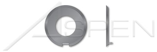M4 DIN 432, Metric, Keyed Washers, External Tab, Steel, Plain