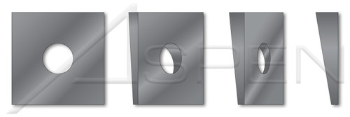 """1/2"""", ID=17/32"""", OD=1-3/4"""", THK=0.313"""" Square Beveled Structural Levelling Washers, Steel, Hardened"""