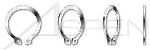 M10 DIN 471, Metric, External Retaining Rings, 400 Series Stainless Spring Steel
