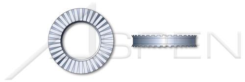 M6 Metric, Rib Spring Lock Washers, Schnorr, Regular Duty, Spring Steel, Zinc Plated