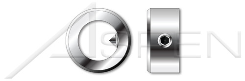 M10 DIN 705, Metric, Slide-On Adjusting Ring Shaft Collars, A2 Stainless Steel
