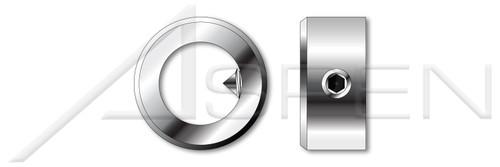 M40 DIN 705, Metric, Slide-On Adjusting Ring Shaft Collars, A2 Stainless Steel