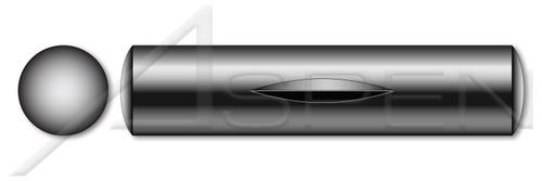 M1.5 X 8mm DIN 1475 / ISO 8742, Metric, Grooved Pins, Third Length Tapered Center Groove, Steel