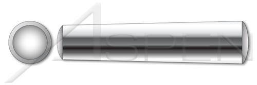 M1 X 12mm DIN 1 Type B / ISO 2339, Metric, Standard Tapered Pins, AISI 303 Stainless Steel (18-8)