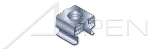 """#10-32 X 0.093""""-0.126"""" Cage Nuts, Steel, Zinc Plated"""