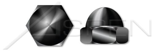 #4-40 Acorn Cap Dome Nuts, Closed End, Low Crown, Steel, Black Oxide