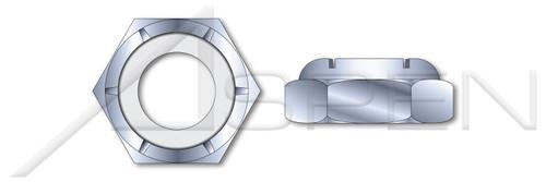 #2-56 Hex Nylon Insert Stop Lock Nuts, NTM and NTE Thin Series, Steel, Zinc Plated