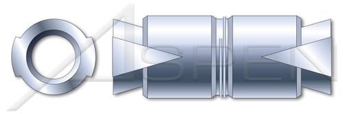 "1/4""-20 X 1"", Hole Dia.=1/2"" Expansion Shield Anchors, Double Expansion, Zamac Alloy"