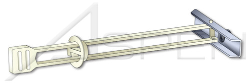 "1/8"" KapToggle Hollow Wall Anchors, Steel, Zinc Plated"