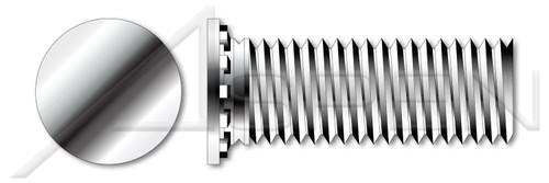 "#4-40 X 1/2"" Self-Clinching Studs, Flush Head Self-Clinching Studs, Full Thread, AISI 303 Stainless Steel (18-8)"