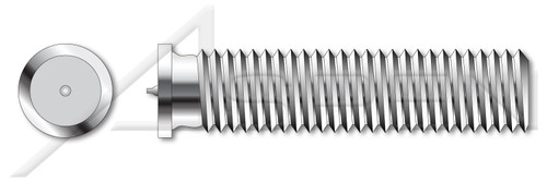 M4-0.7 X 8mm ISO 13918, Metric, Weld Studs, Type PT, A2 Stainless Steel
