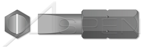 "#1-#2 X 1"", A/F=1/4"" Insert Bits, Slotted Drive"