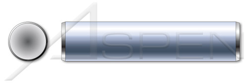 M5 X 36mm DIN 7 Type A, Metric, Solid Dowel Pins, A1 Stainless Steel