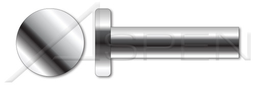 """1/8"""" X 3/16"""" Solid Rivets, Flat Head, AISI 304 Stainless Steel (18-8)"""