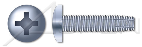 """#4-40 X 5/16"""" Thread-Cutting Screws, Type """"F"""", Pan Phillips Drive, Steel, Zinc Plated and Baked"""