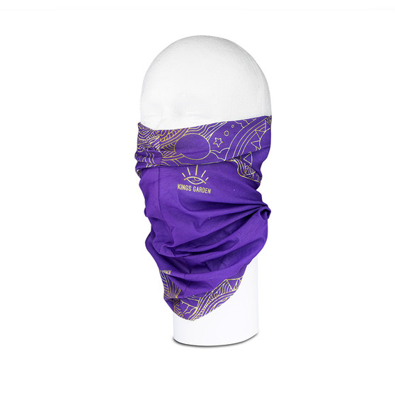 Kings Multi-Functional Neck Tube – Purple and Gold