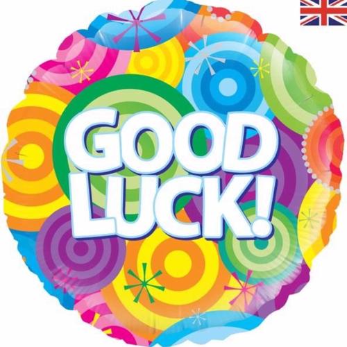 Good Luck Rainbow 18 Inch Foil Balloon