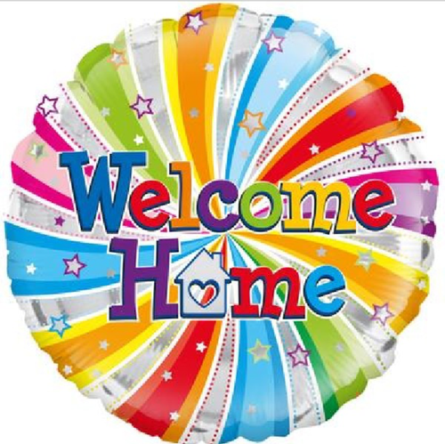 Welcome Home Swirl 18 Inch Foil Balloon