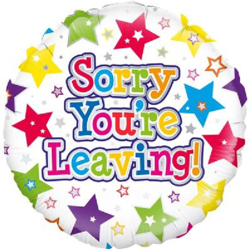 Sorry Your Leaving Stars 18 Inch Foil Balloon