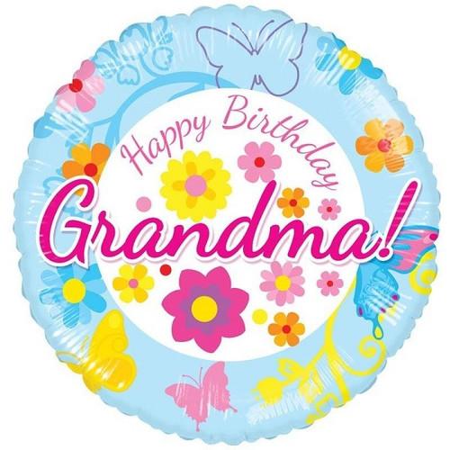 Happy Birthday Grandma 18 Inch Foil Balloon