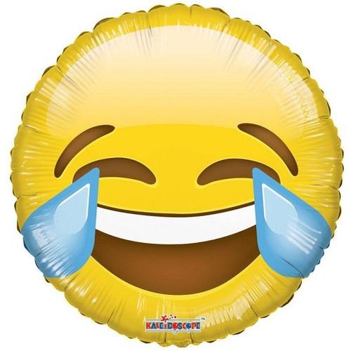 Emoji Smiley Laugh 18 Inch Foil Balloon