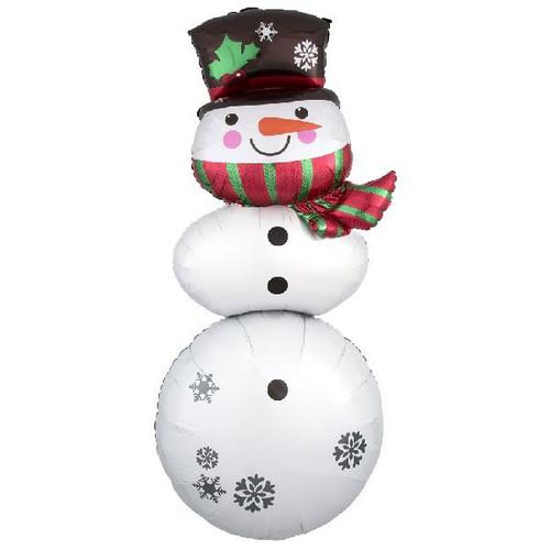 "61"" Snowman Stacker Supershape Foil Balloon"