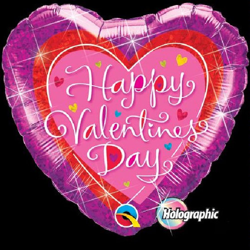 Valentines Dazzling Hearts 18 Foil Balloon